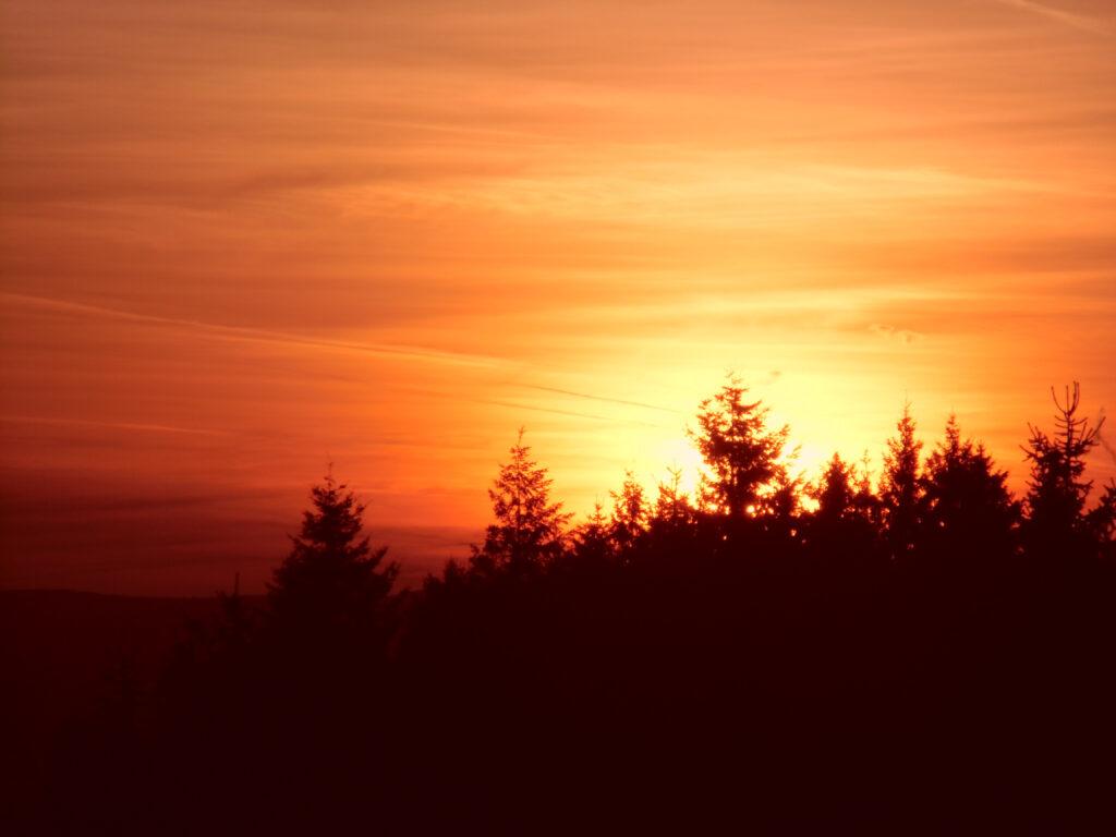 Schnappschuss eines Sonnenuntergangs im Jahr 2017