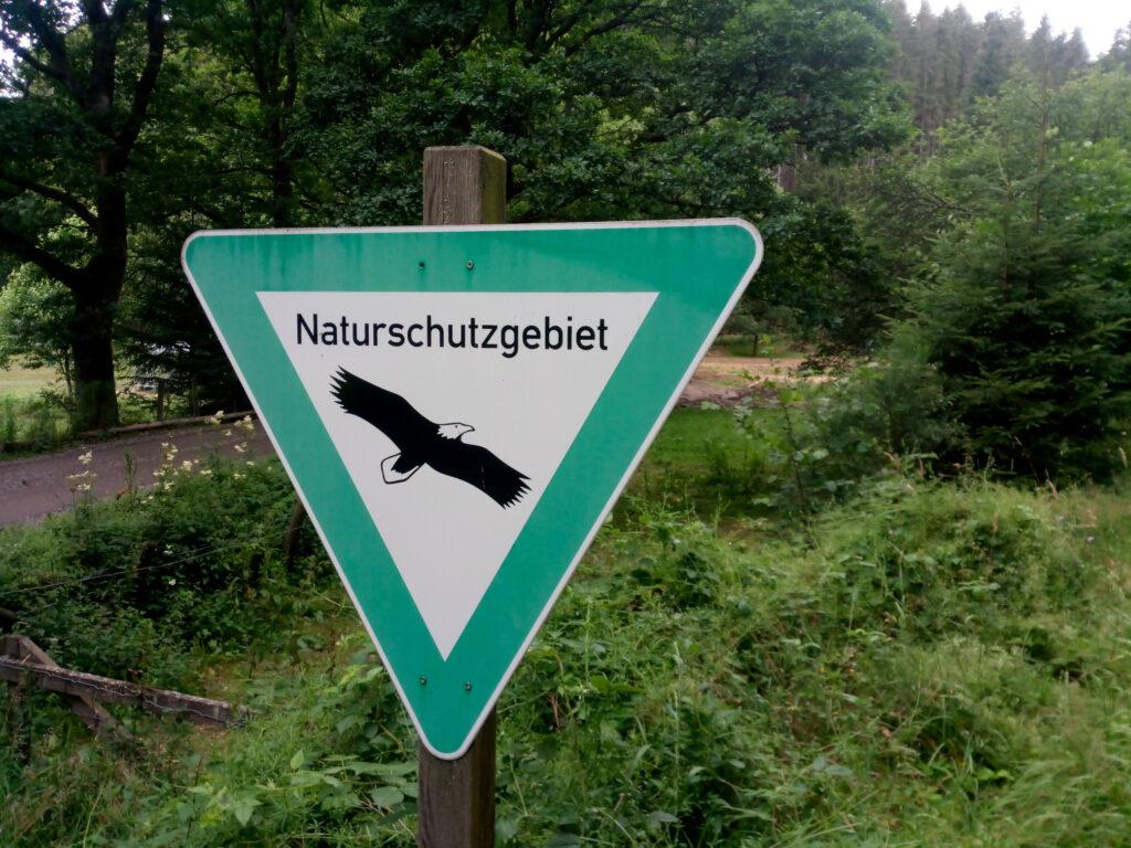 Beschilderung Naturschutzgebiet