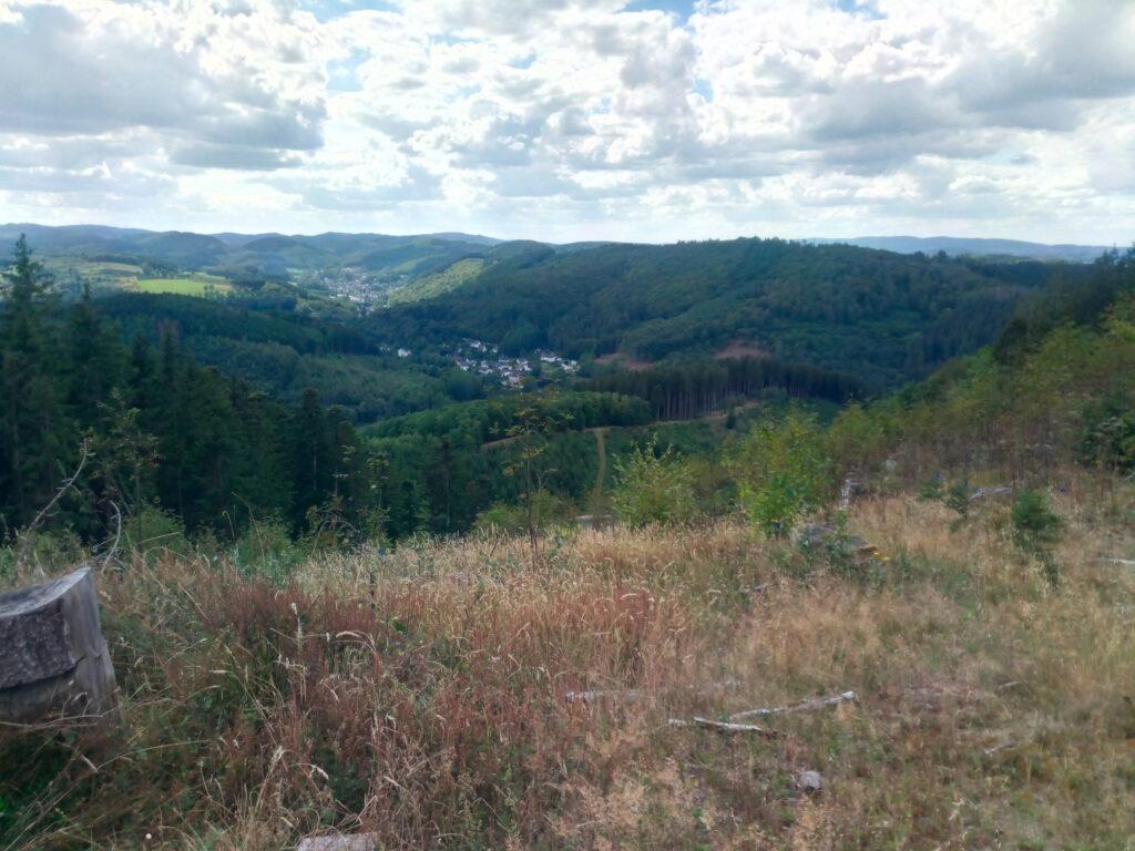 Blick auf den Rosenberg in Lennestadt-Bilstein vom gegenüberliegenden Askay