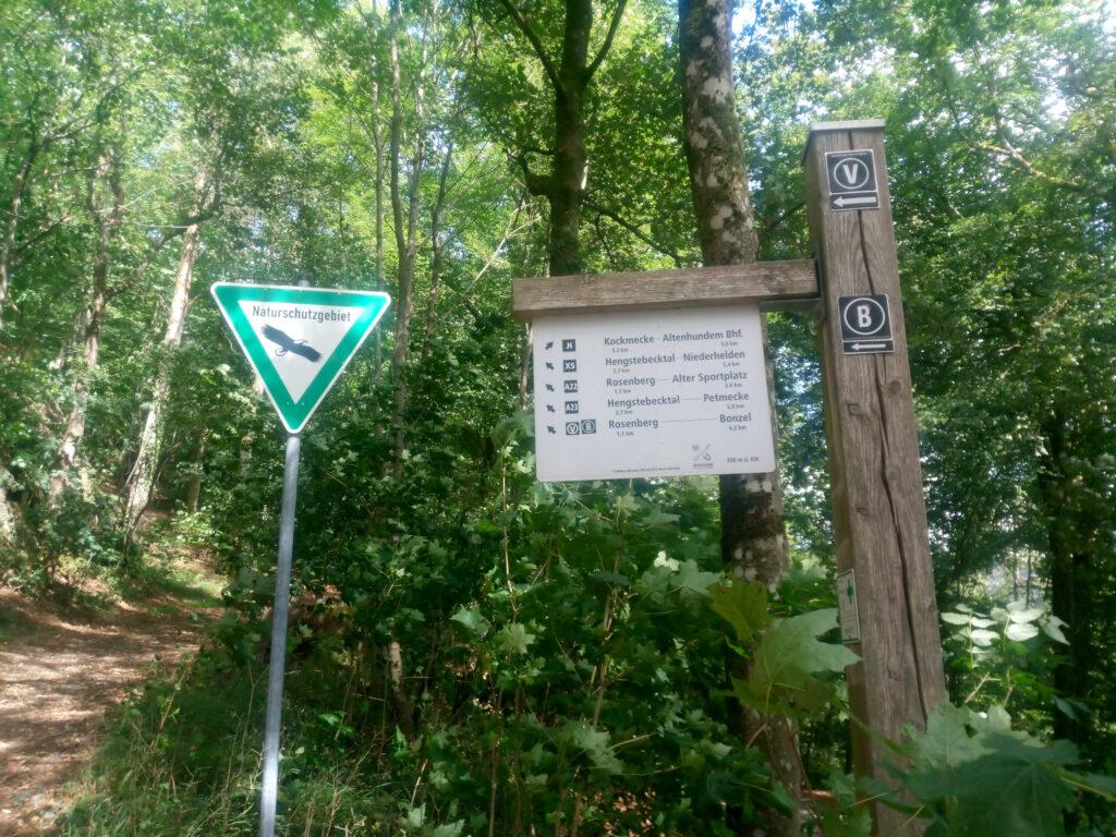 Rundweg A22 ins Naturschutzgebiet