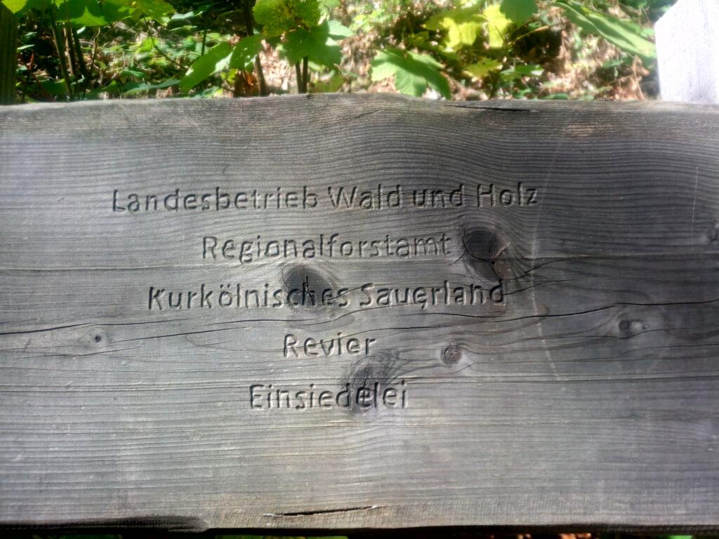 Landesbetrieb Wald und Holz Regionalforstamt Kurkölnisches Sauerland Revier Einsiedelei