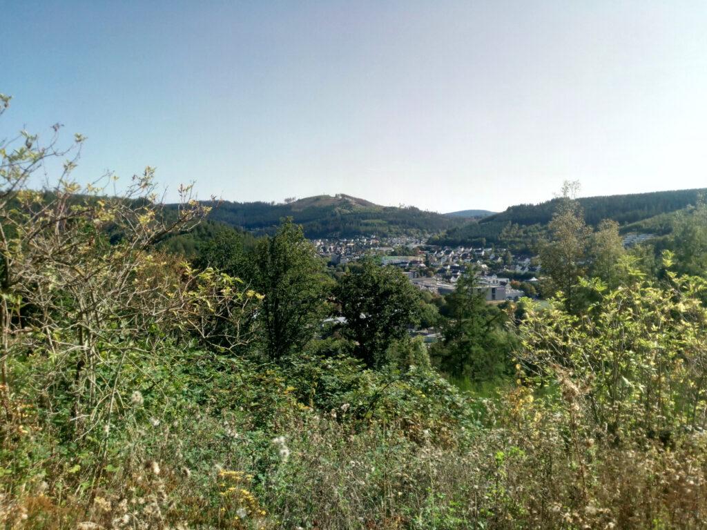 Blick auf Lennestadt-Altenhundem vom Weg zwischen Lennhelle und Maumke