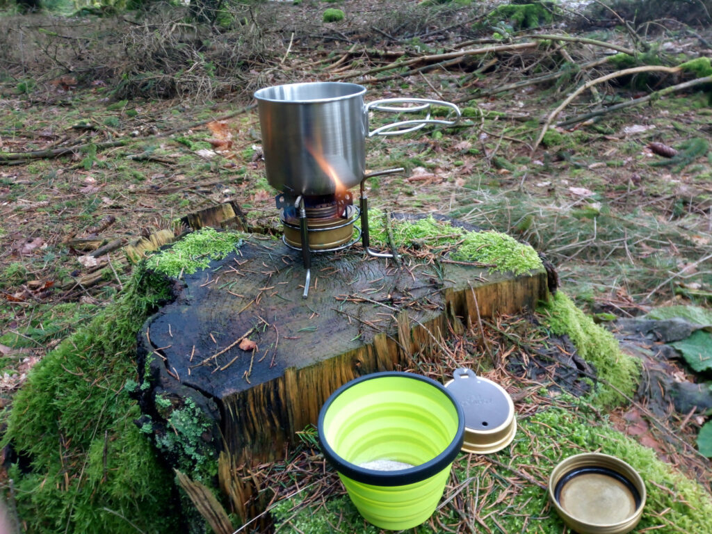 Kaffeekochen mit Instantkaffee