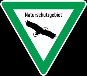 Schild Naturschutzgebiet Seeadler