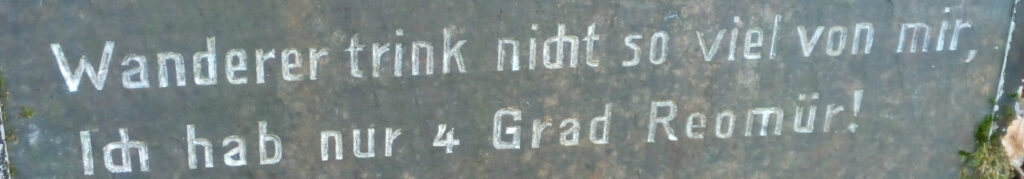 Ausschnitt aus der Hinweistafel an der Quelle am Lehnborn