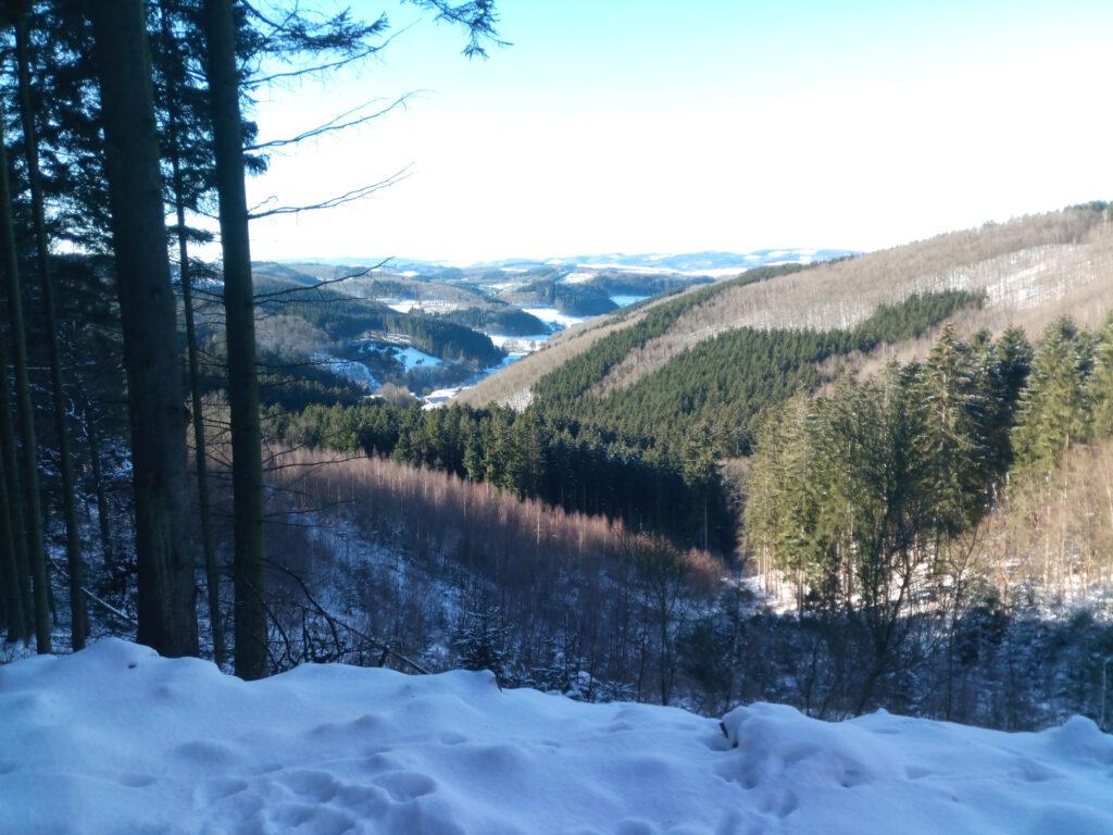 Blick in das Tal nach Bonzelerhammer im Winter