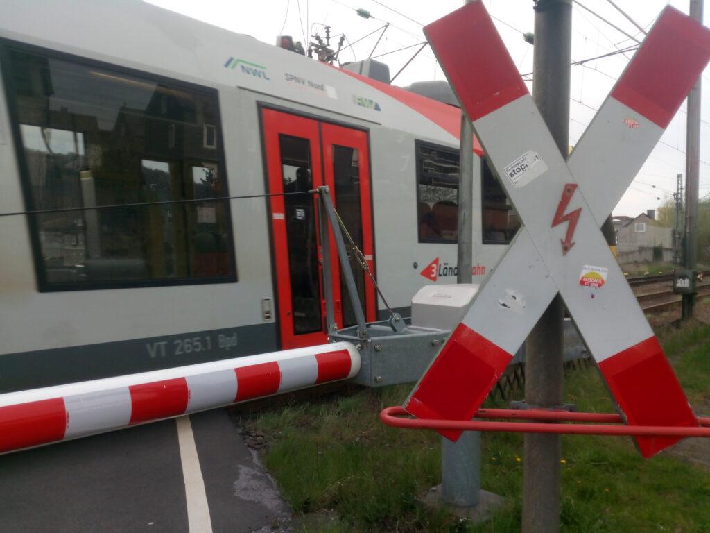 Bahnübergang in Siegen-Weidenau