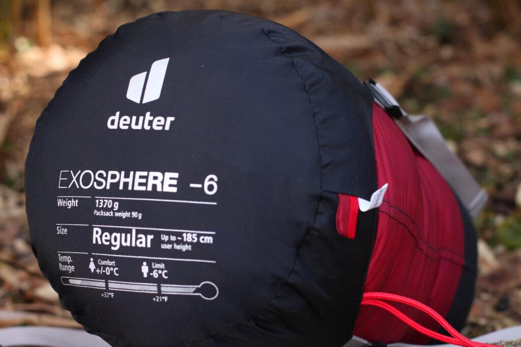 Deuter Exosphere -6 Regular im Kompressionssack