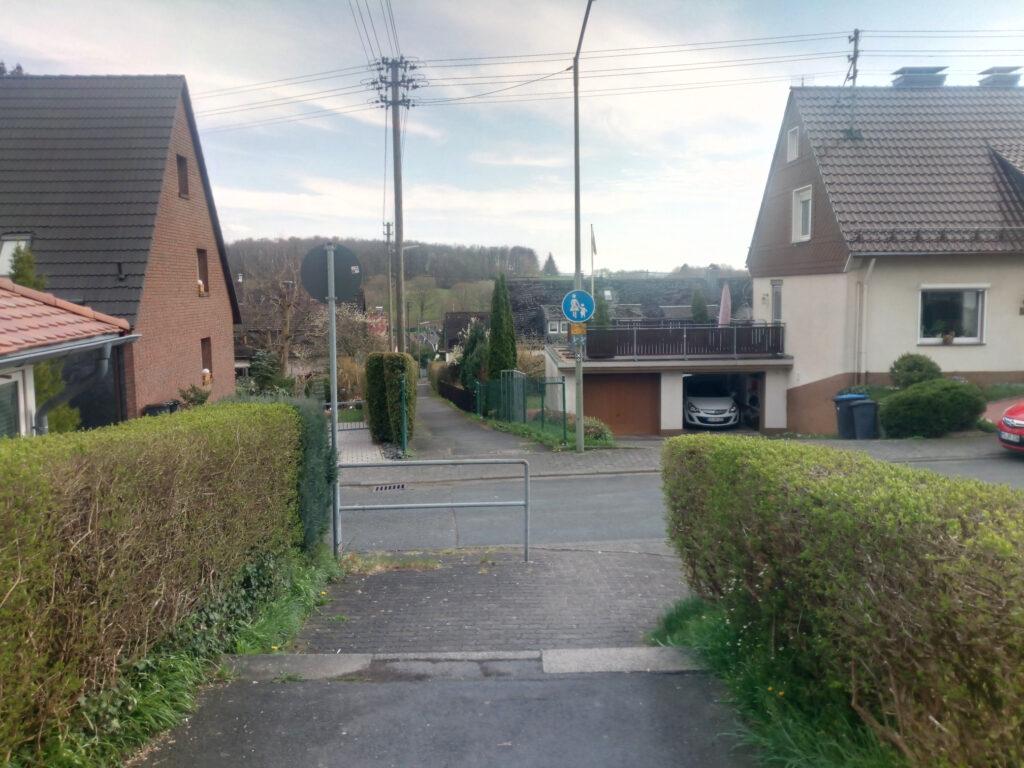 X5-Wegführung in Siegen-Weidenau