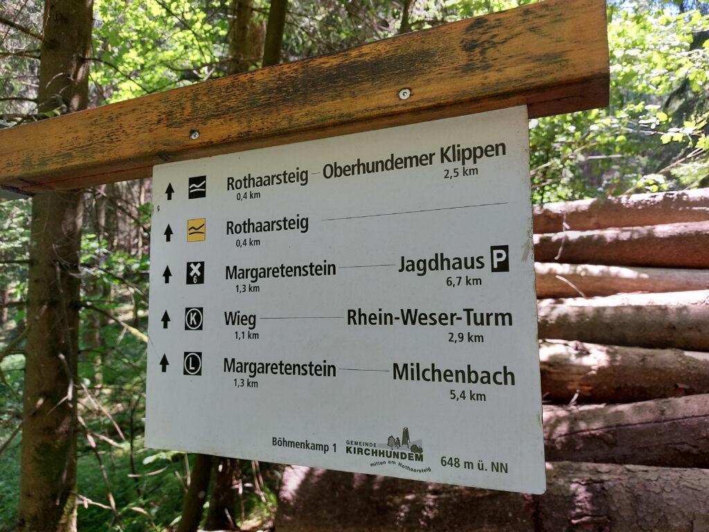 Wanderwegweiser am Böhmenkamp