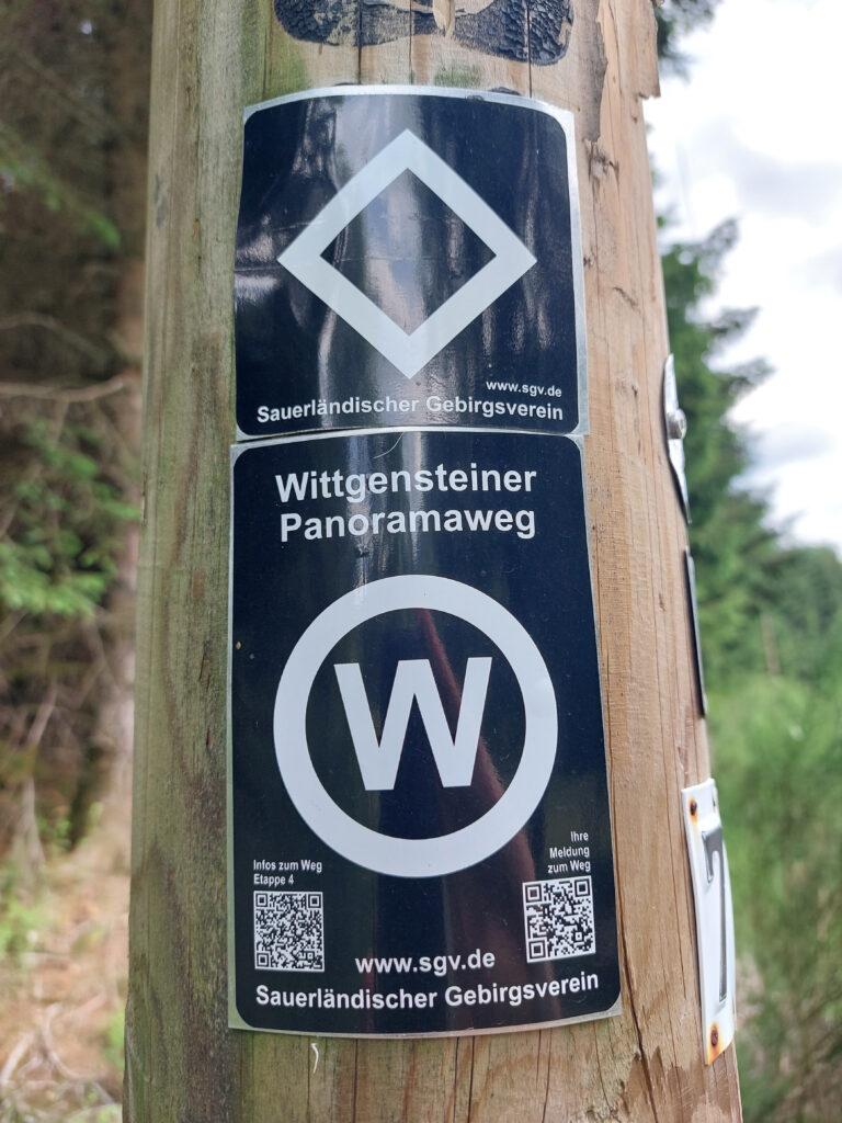 Wandermarkierung des Wittgensteiner Panoramawegs