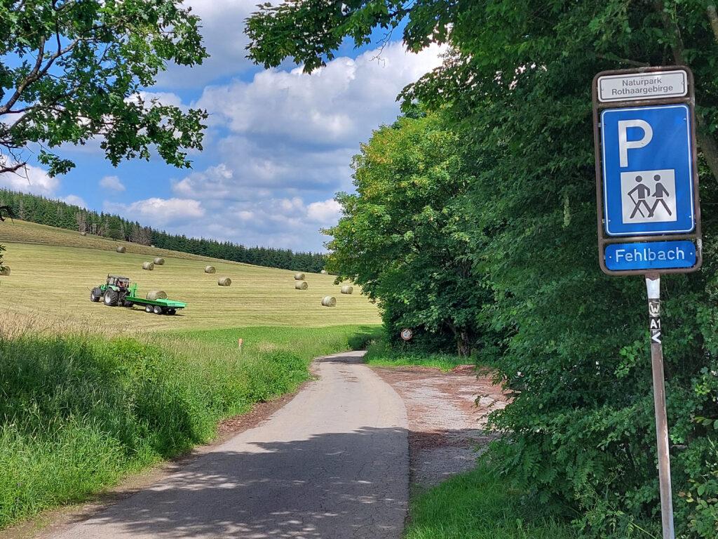 Wanderparkplatz Fehlbach am Wittgensteiner Panoramaweg