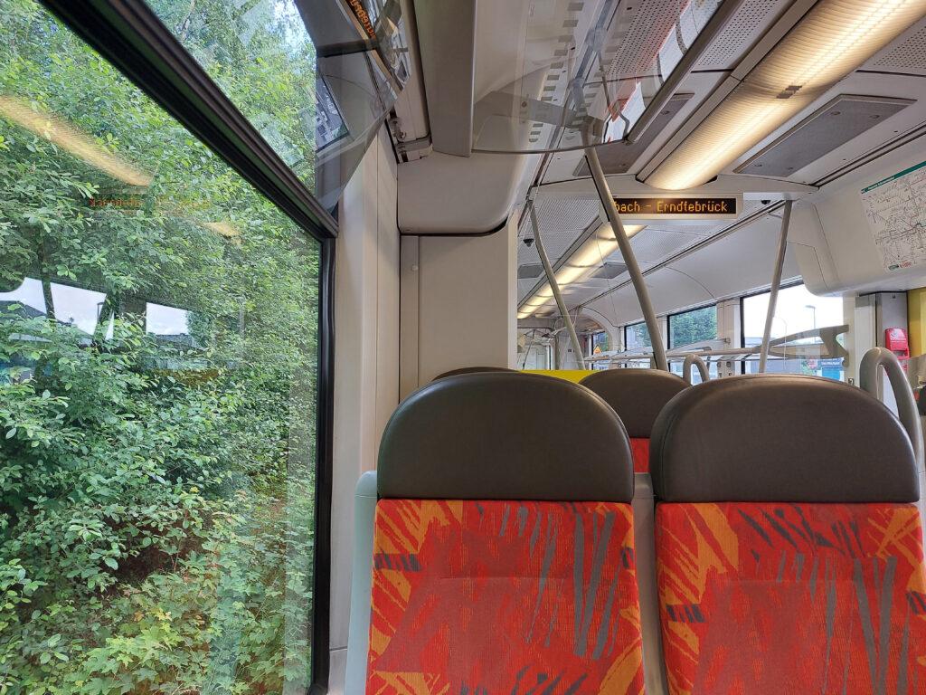 Im Zug zurück von Bad Berleburg nach Aue-Wingeshausen
