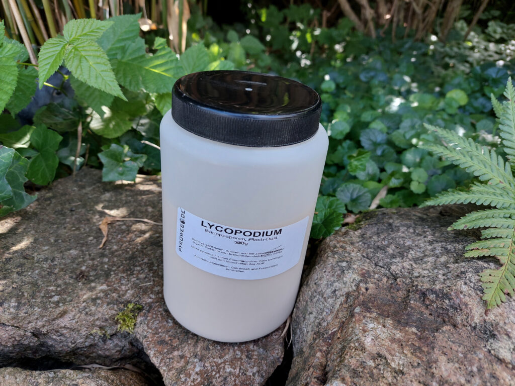 500 Gramm Lycopodium in der Verpackung
